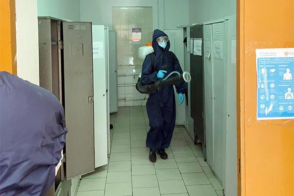 В следственном изоляторе № 1 провели дезинфекционную обработку зданий и помещений