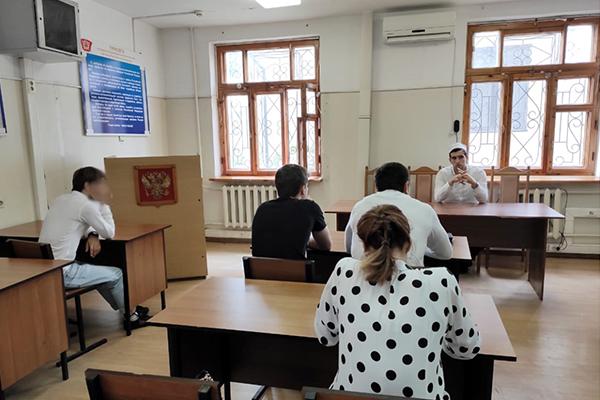 Представитель Муфтията РД беседует с несовершеннолетними правонарушителями